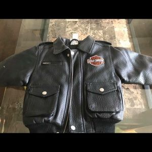 Other - Harley Davidson simulated leather jacket!  24 mos